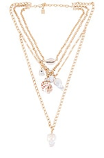 DANNIJO Syd Layered Necklace in Gold