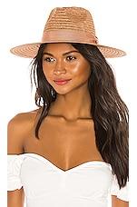 Don Paris Straw Hat in Caramel