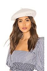 Don Paris Beret in White