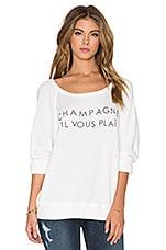 DAYDREAMER Champagne S'il Vous Plait Sweatshirt in Cream