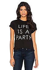 T-SHIRT GRAPHIQUE LIFE IS A PARTY