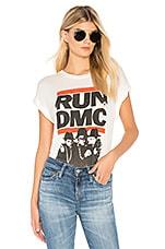 DAYDREAMER Run DMC Band Tee in Vintage White
