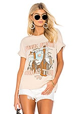 DAYDREAMER Pink Floyd Animals Tour Boyfriend Tee in Pinky Beige