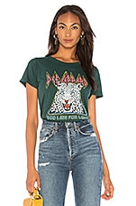 DAYDREAMER Def Leppard Too Late For Love Tee in Emerald