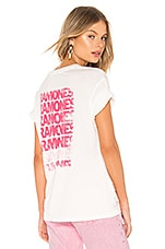 DAYDREAMER Ramones Let's Go Tee in Vintage White