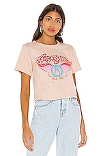 DAYDREAMER Aerosmith Wings Rebel Crop Tee in Toasted Almond