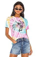 DAYDREAMER Led Zeppelin Icarus Weekend Tee in Rainbow Tie Dye