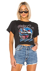 DAYDREAMER Motley Crue Girls Rebel Crop Tee in Ash Black