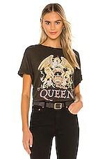 DAYDREAMER Queen Crest Boyfriend Tee in Fern