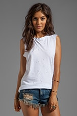 Erosion Wash Muscle Tank in White