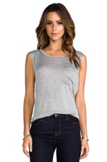 Pocket Muscle Tank in Heather Grey