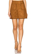 Katelyn Mini Skirt in Cognac