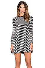 De Lacy Tyler Dress in Black & White Stripe