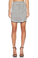 Isabel Skirt in Black & White Stripe