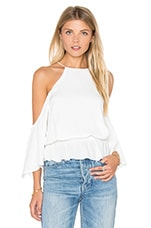 Gemma Cold Shoulder Top en Blanc