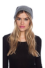 Viki Cashmere Beanie in Medium Heather Grey