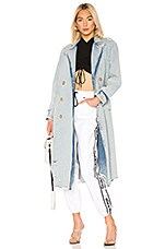 DENIM x ALEXANDER WANG Trench Coat in Marbled Bleach