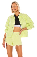 DENIM x ALEXANDER WANG Game Jacket in Highlighter
