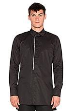 D. Gnak Front Zip Shirt in Black