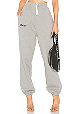 DANIELLE GUIZIO Fleece Sweatpant in Heather Grey