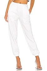 DANIELLE GUIZIO Logo Sweatpants in White
