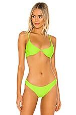 DANIELLE GUIZIO Lure Bikini Top in Neon Green