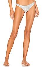 DANIELLE GUIZIO Lure Bikini Bottom in Silver Glitter