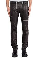 Zipps Leather Pant in Black
