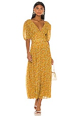 Divine Heritage Sweet Virginia Ditsy Maxi Dress in Sunflower