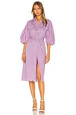 Divine Heritage Shirt Dress in Lavender