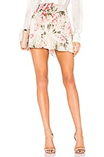 Divine Heritage Pleated Shorts in Ivory