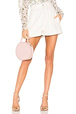 Divine Heritage Pleated Cuffed Short in White Light