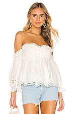 Divine Heritage Off Shoulder Top in White Light