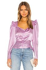 Divine Heritage Sweetheart Neckline Blouse in Sweet Lilac