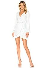 DL1961 Ainsley Wrap Dress in Irregular bleach