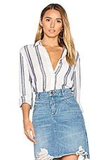 Mercer & Spring Regular Fit Button Up in Wide Blue Stripe & Cream