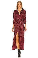 David Lerner Maxi Dress in Red Leopard