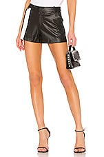 David Lerner Front Stripe Short in Black