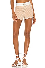 David Lerner Lounge Short in Nude