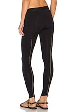 x Chiqui Delgado Zip Back Legging in Classic Black