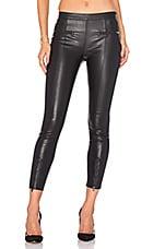 Front Zip Legging in Classic Black
