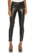 David Lerner Ankle Zip Legging in Classic Black