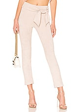 David Lerner Waist Tie Straight Leg Skimmer Pant in Blush