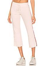David Lerner Crop Flare Lounge Pant in Soft Pink