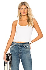 David Lerner Cropped Aiden Tank in White