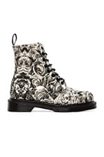 Beckett 8-Eye Boot in Black & Grey