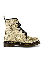 Dr. Martens 1460 Farrah Glitter Boot in Gold