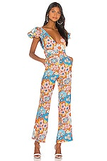 Dodo Bar Or Jenny Jumpsuit in Brown Flower