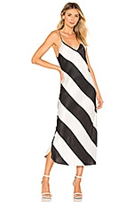 Dodo Bar Or Aline Dress in Black and White Stripes