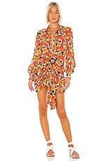 Dodo Bar Or Lora Dress in Flower 4 Orange Brown